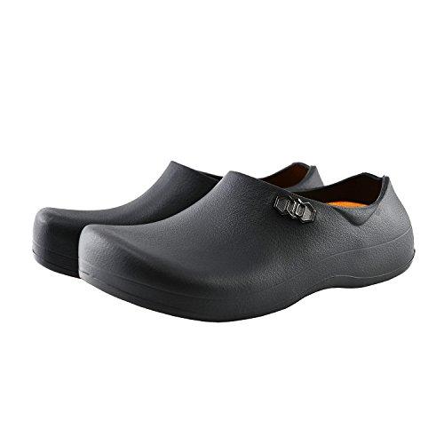 [STICO] スティコ NEC-03 男女兼用 滑り止め 作業靴 コックシューズ 厨房靴 軽量 耐滑 耐油 bk-25