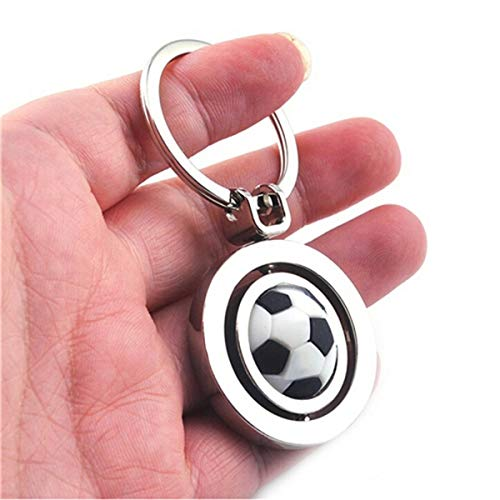 IMIKE Metal Keychain Fashion Cute Rotating Soccer Football Sports Keyring Key Chain Iowa