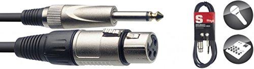 Stagg SMC10XP Cavo S Serie da XLRf to Jack, 6,3 mm, 10m, Nero