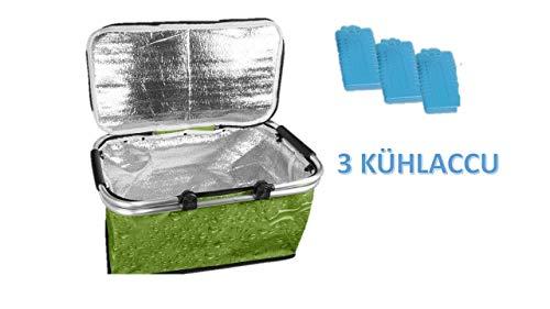 Einkaufskorb Thermo, ideal als stabile Einkaufstasche, für Picknick und Camping, mit Thermofutter und Tragehenkel