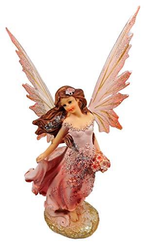 Dekofigur Elfe in Altrosa 22 x 8 cm Fee mit Flügel rosa Fairy Deko Figur GIK 7725 B