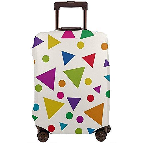 Carneg Reisegepäck-Abdeckungs-Muster mit bunter Dreieck-Kofferabdeckungs-Schutzvorrichtung passt 22-24 Zoll-Gepäck-Gepäckabdeckung