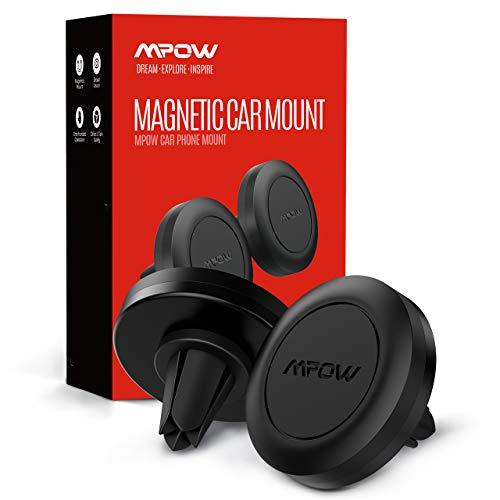 Mpow Supporto Smartphone per Auto per Presa d'Aria Magnetico (2 Pezzi) Telefono Auto Porta Cellulare da Auto Compatibile con iPhone 11 PRO Max/XS Max/XR/8 Plus/8, Galaxy S10/9/8, Huawei, Xiaomi