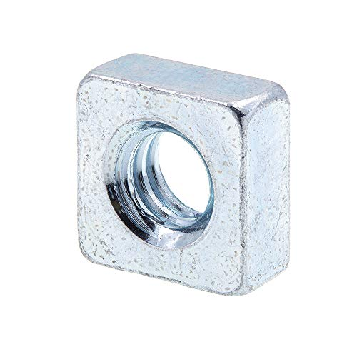 Prime-Line 9192619 Square Nuts, 1/4 in-20, Zinc Plated Steel, 25-Pack