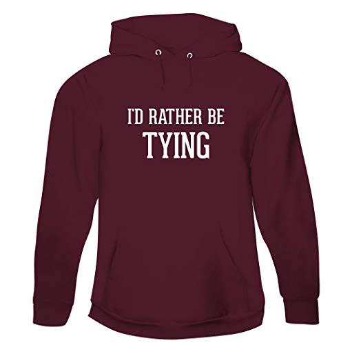I'd Rather Be TYING - Men's Pullover Hoodie Sweatshirt, Maroon, X-Large