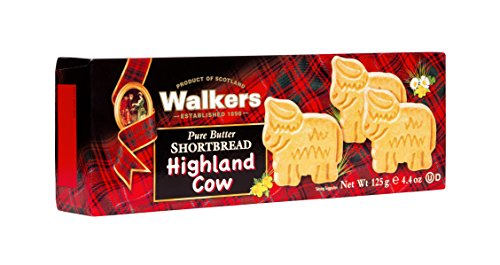 Walkers Shortbread Highland Cow Shapes – 125 g – Traditionelles Buttergebäck nach schottischem Rezept – Mit süßem Butteraroma