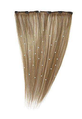 American Dream - A19/QFC12/18/14 - 100 % Cheveux Naturels - Pièce Unique Extensions Cristallisées à Clipper - Couleur 14 - Blond Cendré Naturel - 46 cm