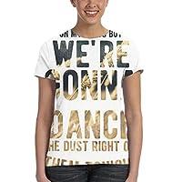 私たちは踊りました Tシャツレディース 半袖プリント 夏 カジュアルファッション 人気 クルーネック ゆったりとしたスポーツの快適性 ユニセックス