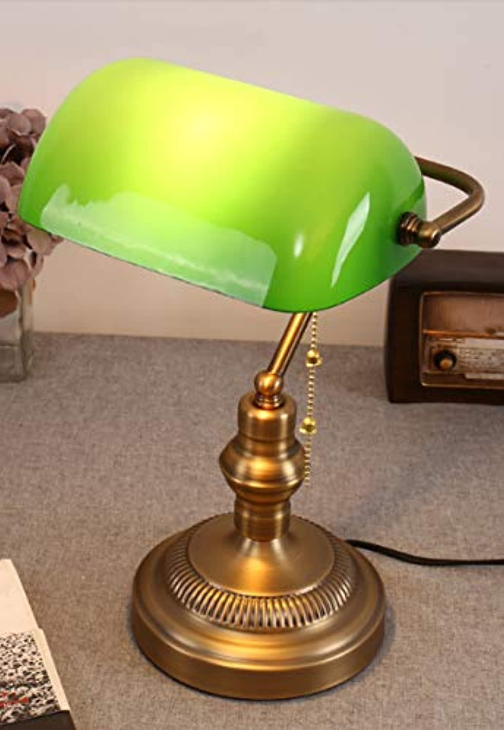 American Nostalgic Eye Care Learning Bedroom Bedside Study Table Retro Table Lamp