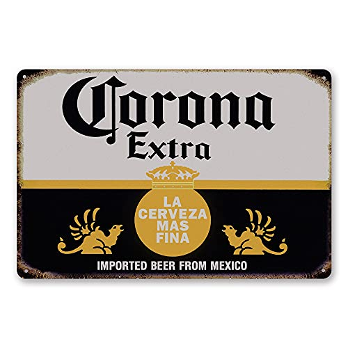 TINSIGNS Corona Extra Beer Man Cave Decor Metal Sign Alcohol Home Bar Retro Vintage Signs 8x12 Inch