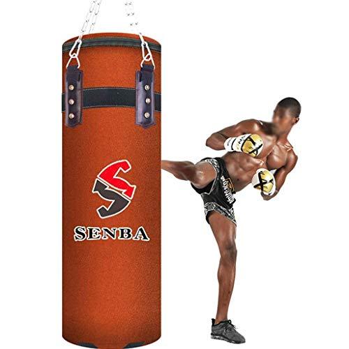saco de boxeo mixto para adultos color negro con cadenas 100//120 cm profesional Saco de boxeo SUA ONG para colgar por cadena ultra resistente
