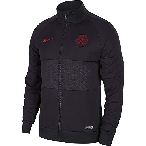 Nike PSG M Nk I96 Jkt Jacke, Herren, Oil Grey/Oil Grey/University L Grau / Rot (oil grey/Oil grey/university red)