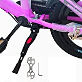 VECKUSON Kickstand for Kids Bike, Bicycle Kickstands Center Mount for 16 18 20 Inch Bicycles Adjustable Aluminum Alloy Kickstands for 18-22inch Mountain Bike/Road Bicycle/Adult Kid Bike/Sports Bike