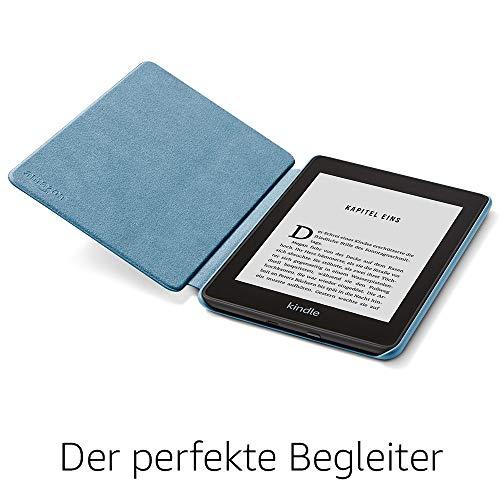 41KZGWAkMsL - Amazon Kindle Paperwhite-Lederhülle, kompatibel mit der 10. Generation (2018), Dunkelblau