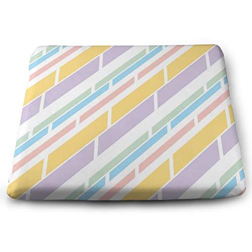 Houity lichtgekleurde streep 0 100% polyester vierkant kussen met kussen kern, stoel kussen Tatami vloermat 13,8x15inch
