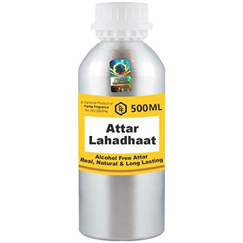 Parag Fragrances Lahadhaat Attar 500 ml Attar (Sans alcool, Attar de longue durée pour hommes - Femmes et usage religieux) Worlds Best Attar | Itra | Huile parfumée | Parfum