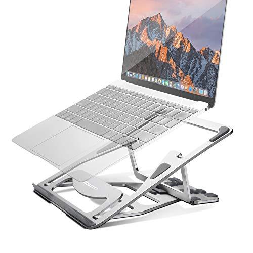 "Aluminum Laptop Stand Adjustable, Foldable Ergonomic Portable Laptop Riser, Ventilated Stand Holder for MacBook Pro/Air, HP, Dell XPS, Lenovo More 10-15.6"" Laptops"