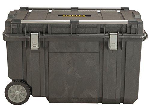 Stanley Werkzeugbox (97 x 58,5 x 62 cm, Box für Montage mit 240l Fassungsvermögen, Metallverstrebungen zum Befestigen einer zweiten Box, robuste Metallschließen) FMST1-75531