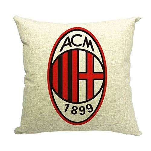 BTPDIAN Cuadrado Lumbar sofá Personalidad Coche Almohada Almohada cojín Europea-Inglés Emblema del Club de fútbol Cojín para sofá (Color : E)