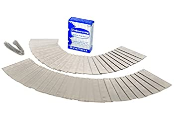 Double Sided Write On Metal Labels for Outdoor Gardening and High Durability Applications  Aluminum Plant Tags with 6 Inch Wires  Pack of 50