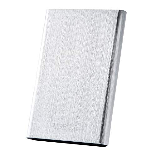 External Hard Drive,1TB 2TB Portable Hard Drive External Slim Data Storage Compatible with PC, Laptop and Mac(1TB Silver)
