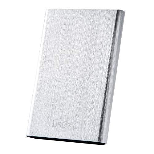 Disque dur externe externe 1 To 2 To 4 To HDD USB 3.0 compatible avec PC, ordinateur portable et Mac (1 To argenté)