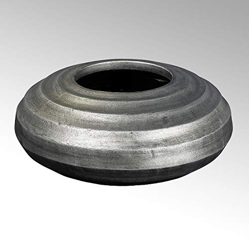 Lambert Sansibar Gefäß, Keramik, Silber, H 21, D 45 cm