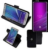 K-S-Trade® Handy Hülle Für Allview Soul X6 Xtreme Flipcase Smartphone Cover Handy Schutz Bookstyle Schwarz (1x)