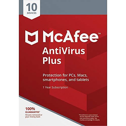MCAFEE (R) Antivirus Plus, für 10Geräte, für PC/Mac, ecode