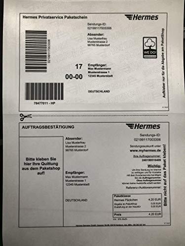 100 Stück HERMES Etiketten/Versandetiketten für Online-Paketschein (selbstklebend)
