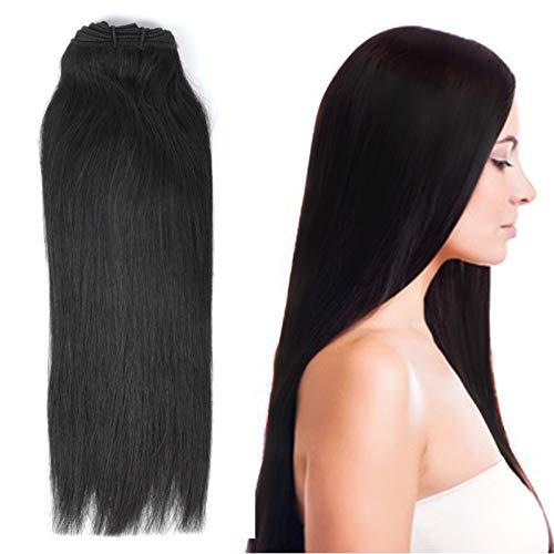 8-30 Pouces 1 Bundle(3 Bundles promotion) 8A 100% Bresilien Cheveux humains Vierges Cheveux Humains Weave 100g Extensions capillaires/Noir naturelle S
