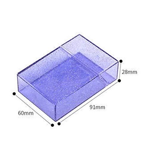 Linyuex Caso de Cigarrillos - Fumadores MuiticolorCigarette Caso Caja portátil de plástico Transparente del lápiz Labial más Ligeros Cuadro Titular Herramientas (Color : Purple)