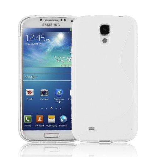 Cadorabo Custodia per Samsung Galaxy S4 in Semi Transparente - Morbida Cover Protettiva Sottile di Silicone TPU con Bordo Protezione - Ultra Slim Case Antiurto Gel Back Bumper Guscio