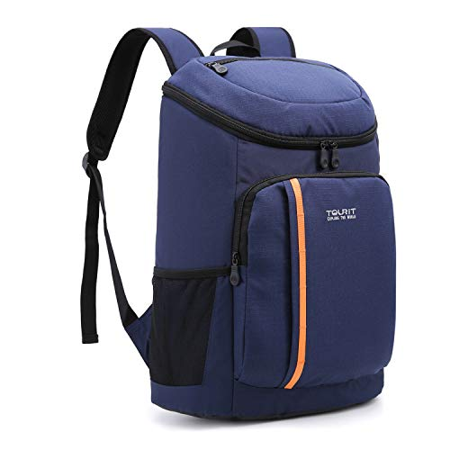 TOURIT 30 Cans Cool Bag Rucksack Insulated Cooler Backpack Lightweight Large Capacity Cooler Rucksack for Men Women to Picnics Hiking Beach Park or Family Day Trips, Blue