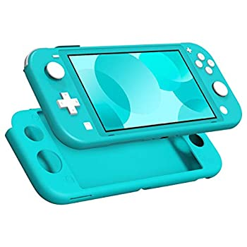 MoKo Case Compatible with Nintendo Switch Lite Silicone Protective Rubber Cover Shock-Absorption Anti-Scratch Non-Slip Case Compatible with Nintendo Switch Lite Console - Turquoise