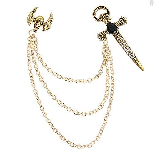 chunnron Brosche Sicherheitsnadeln Vintage Brosche Legierung Brosche Broschen für Frauen Kragenbrosche Strass Brosche Diamant-Brosche Goldbrosche Gold