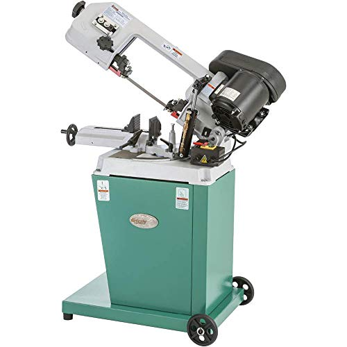 Grizzly G9742 Metal-Cutting Bandsaw with Swivel Head, 5 x 6-Inch