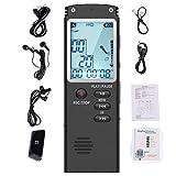 JIE Mini grabadora de Audio de Sonido Digital Activado por Voz dictáfono Reproductor de MP3 Negro 8GB