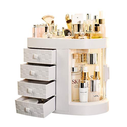 SNCQD Make-up Aufbewahrungsbox staubdichte Aufbewahrungsbox 180 ° drehbare Kosmetikablage...