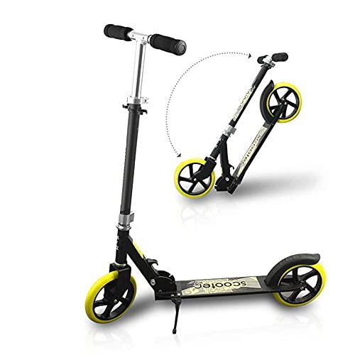 De múltiples fines Scooter adecuado for los adultos mayores de 8 años de 2 ruedas scooter con amortiguador de impacto Ruedas de cuatro velocidades de altura ajustable de aleación de aluminio Máximo Ca