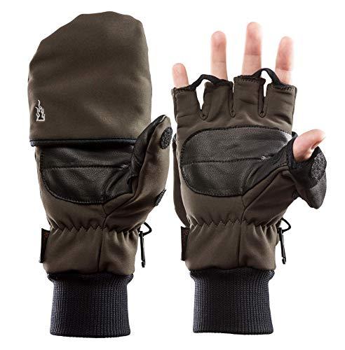 K & S The Heat Company SoftShell Thinsulate Warmte handschoenen Heat 2 Olive Bruin Zwart Jachthandschoenen Outdoor handschoenen Skihandschoenen Snowboardhandschoenen met handwarmer