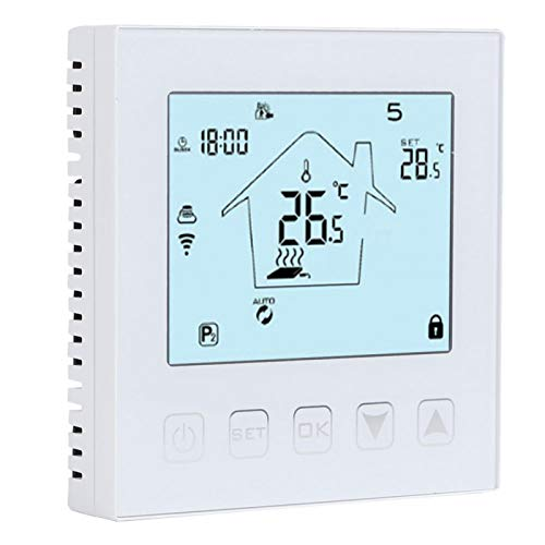 needlid Termostato teledirigido, termostato antiinterferente eléctrico doméstico para calefacción por Suelo Radiante