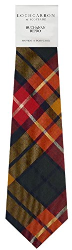 I Luv Ltd Gents Neck Tie Buchanan Repro Modern Tartan Lightweight Scottish Clan Tie