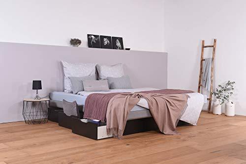 SuMa Wasserbett mit Schubkästen + Splitborder freistehend (180 x 220 cm, Minimale Beruhigung)