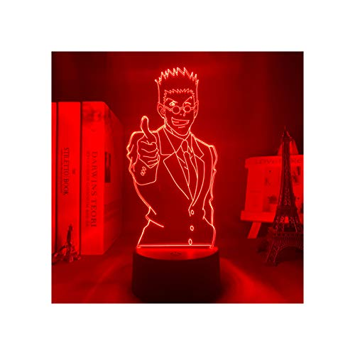 Hunter X Hunter Lámparas De Ilusión 3D Luz De Noche Led Lámpara De Anime para Niños Regalos Decoración De Dormitorio Luz Regalo De Cumpleaños para Niños Hxh Lámparas De Mesa Leorio