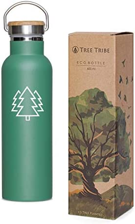 Tree Tribe Green Trees Stainless Steel Water Bottle 20oz Vacuum Insulated Water Bottle Double product image