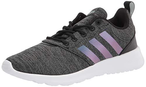 adidas Unisex QT Racer 2.0 Running Shoe, Black/Mineral/Grey, 10 US Women