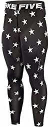 mens compressions leggings black with stars