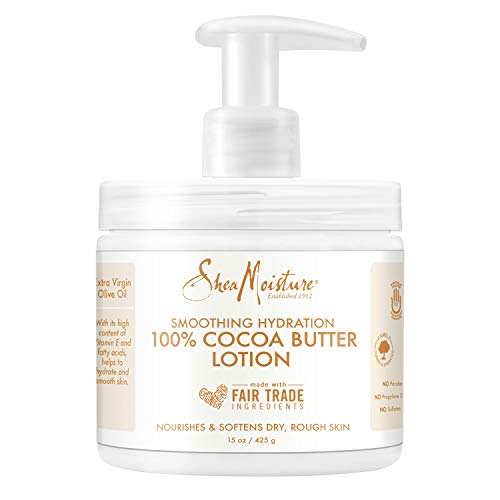 Sheamoisture Smoothing Hydration Lotion for Dry Skin 100% Cocoa Butter Sulfate Free 15 oz