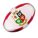 British & Irish Lions 2017 - Mini Ballon de Rugby Réplique Officiel - Blanc/Rouge - taille Mini